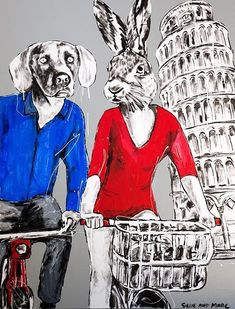 They always leaned on each other and especially in Pisa (Original Painting) Information Art, Get Gift Cards, Stencil Painting, Romanticism, Australian Artists, Mixed Media Canvas, Pisa, Original Paintings, Art Gallery