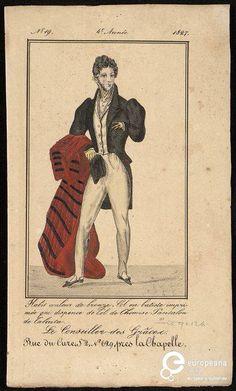 """""""Le Conseiller des Grâces"""" n. 19, Tallois, rue du Curé n° 629, 1827. Courtesy Bibliothèque royale de Belgique, all rights reserved"""