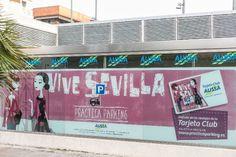 Una de las acciones de esta promoción 'Practica Parking' ha sido la tematización de los parking de AUSSA en Sevilla, como éste, localizado en José Laguillo.