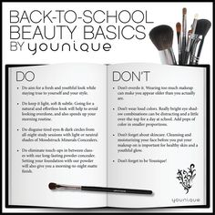 Back to School Beauty basics  What to wear to high school  #makeup #younique #makeupadvice