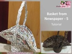 D.I.Y - Basket from Newspaper 5 - Tutorial - YouTube