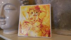 Check out this item in my Etsy shop https://www.etsy.com/listing/276298734/ceramic-tile-ganesha-wall-art-magnet-art