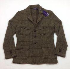 4000-Ralph-Lauren-Purple-Label-Men-Wool-Alpaca-Tweed-Hunting-Blazer-Coat-Jacket