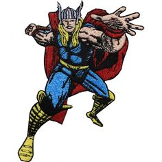 Official Marvel Universe Comics Avengers Thor Full Body Iron on Applique Patch