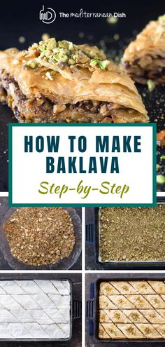 This is the easiest step by step to make mouth watering Baklava for your next Holiday gathering or just a treat for your family to enjoy! Easy Mediterranean Recipes, Mediterranean Desserts, Mediterranean Breakfast, Greek Recipes, Fish Recipes, Baklava Recipe, Breakfast Recipes, Dessert Recipes, Everyday Food