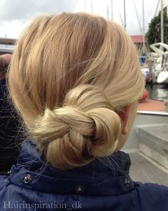 Side Braided Bun Updo For Teens