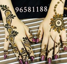 2 different mehndi henna design
