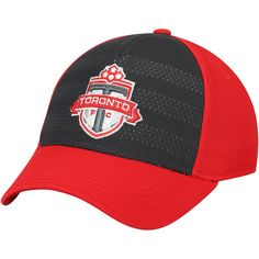 64671bc74bad9 Youth Toronto FC adidas Black Red Authentic Structured Flex Hat
