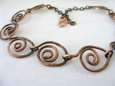 Hand forged Copper Necklace with Patina | LindaSudimack - Jewelry ...