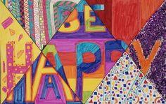 Elements of Art Word Design- 5th grade, could talk about a different element each week and do that section