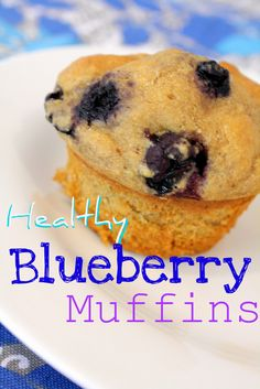 Healthy Blueberry Muffins {Whole Grains} | Foodie Fresh - one commenter says this recipe works great with GF baking mix instead of flour