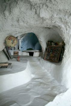 A cave house on the island of Filicudi