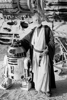 "Obi-Wan Kenobi and R2-D2 - ""Can't recall ever owning a droid."""