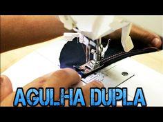 USANDO AGULHA DUPLA: Aprenda a Regular a Máquina e Dicas de Uso em Tecidos - YouTube