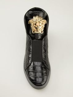 Shop Versace Medusa hi-top sneakers in Jean Pierre Bua from the world's best independent boutiques at farfetch.com. Over 1000 designers from 300 boutiques in one website.