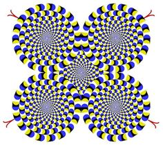 Peripheral drift illusion.