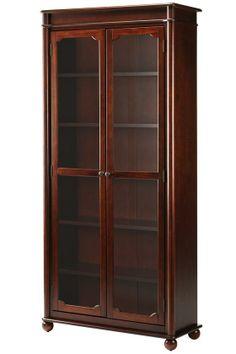 Es Bookcase With Gl Doors Door Bookcases Furniture Homedecorators