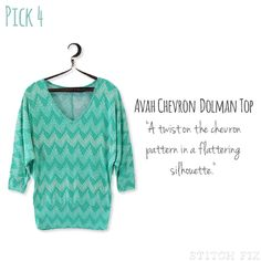 4 Avah Chevron Dolman Top