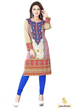 Buy latest designs crepe silk multi color short tunic kurti is worth to buy for all the modern women. This beautiful ladies tunic is worth to buy online #kurti, #casualkurti more: http://www.pavitraa.in/store/casual-kurtis/