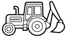 Important Digger Colouring Pages How To Draw Excavator Truck Coloring Tractor Colors For Kids Tractor Coloring Pages, Crayola Coloring Pages, Disney Coloring Pages, Coloring Pages To Print, Coloring Book Pages, Free Printable Coloring Pages, Coloring Pages For Kids, Coloring Sheets, Adult Coloring