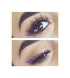 Purple CatEye by @sarahhvii in Motives Khol Eyeliner (Amethyst)! #Eyes #Amethyst #Purple