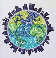 Dibujo del planeta tierra