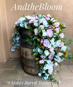 Excited to share this item from my #etsy shop: Whiskey Barrel Flowers, Blush Whiskey Barrel Centerpiece, Wedding Flowers, Sweetheart Centerpiece, Cascading Centerpiece, Blush Weddings Wedding Ceremony Arch, Blush Wedding Flowers, Wedding Flower Arrangements, Wedding Centerpieces, Blush Weddings, Mauve Wedding, Floral Wedding, Whiskey Barrel Flowers, Etsy Shop