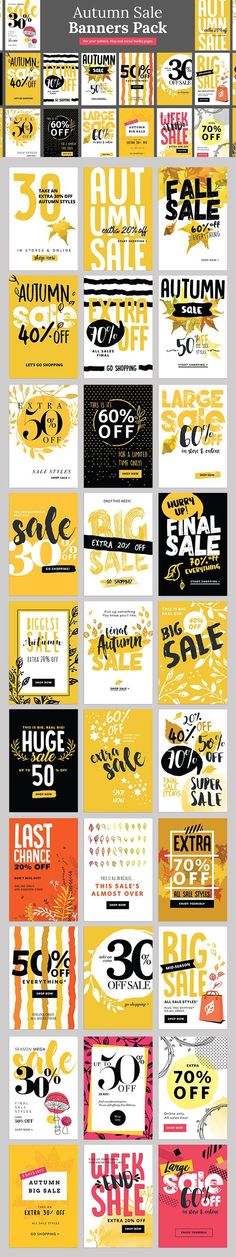 Autumn Sale Banners Pack. Newsletter Template. $11.00