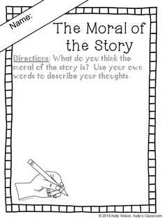 (FREE) Fables have been used since the beginning of time to teach children important lessons of life, ethics, and morality. This simple writing response sheet can be used during your lessons about fables and other types of literature. #kellysclassroom