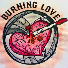 Burning love   #art #arte #love #red #burn #cigarette #design #type #colorful #watercolor #texas #olé #atx #Texas #houseofoleproject #ashtray