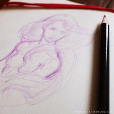 #sketch #melaniedelon #portrait