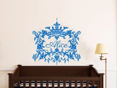 Frame for NAME Wall Decals For Girls PRINCESS by LollipopDecals