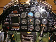 Cockpit of an F4U-Corsair:
