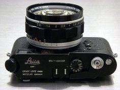 Leica with Canon lens camera Rangefinder Camera, Leica Camera, Camera Gear, Camera Equipment, Photo Equipment, Photography Equipment, Old Cameras, Vintage Cameras, Classic Camera