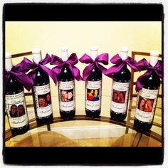 Wedding Bridal Party Gifts - Custom Bridesmaid Photo Wine Labels for each member of your Bridal Party. $42.00, via Etsy.