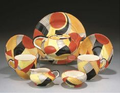 Susie Cooper, along with Clarice Cliff are probably the most significant figures in ceramics design of the Art Deco period. Susie Cooper was born in 1902 Susan Cooper, Art Nouveau, Clarice Cliff, Rookwood Pottery, March Hare, Hobbies And Interests, China Sets, Stoke On Trent, Art Moderne