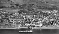 Old photograph of Largs on the coast of Ayrshire, Scotland Old Photographs, Ancestry, Glasgow, Genealogy, Childhood Memories, Tartan, Scotland, City Photo, Coast