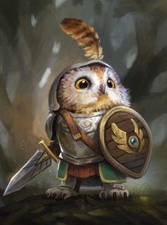Knight Owl from Humblewood by Illustrator and Concept Artist leeshahannigan - - illustration owlart digitalart digitalillustration characterdesign 3d Fantasy, Fantasy Kunst, Fantasy Artwork, Fantasy Races, Fantasy Character Design, Character Inspiration, Character Art, Character Concept, Dnd Characters