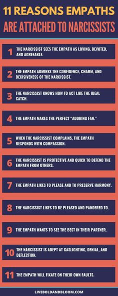 Here are the reasons empaths are attached to narcissists. Read this post and find out more. Traits Of A Narcissist, Dealing With A Narcissist, Behavioral Psychology, Psychology Facts, Abusive Relationship, Relationship Tips, Enfp And Infj, Narcissistic Behavior, Narcissistic Traits