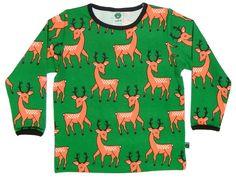 Smafolk l/s tee - Green Deer