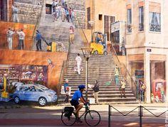 Façades peintes dans Lyon ... Colorées et attrayantes.