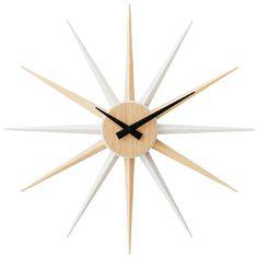 *輝く星のようなフォルムの掛け時計*ウォールクロック RACHELLE ラシェル