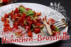 Low-Carb Hähnchen-Bruschetta ist ein wunderbares Antipasti-Gericht Italienischer Art: schnell zubereitet, appetitlich & gesund.