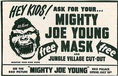 El Gran Gorila (Mighty Joe Young, 1949): ¡Conseguí la máscara del simio protagonista!