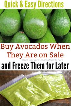 Freezing Fruit, Freezing Vegetables, Frozen Vegetables, Fresh Guacamole, Homemade Guacamole, Fresh Avocado, Freezer Cooking, Cooking Tips, Freezer Hacks