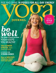 September 2013 - Colleen Saidman Yee makes this month's issue so radiant!  Look for the Soulié ad in the Yoga Pages.