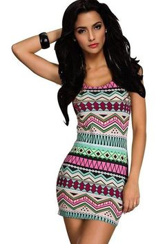 New Sexy Strips Black White Long Sleeves Mini Dress Night Out Dress Clubwear (Aztec Print Hot Pink) Casual Dresses For Women, Cute Dresses, Beautiful Dresses, Short Dresses, Cute Outfits, Dress Casual, Mini Dresses, Trendy Dresses, Summer Dresses
