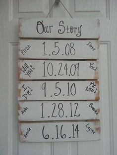 Such a cute idea! Depending on how you make it you could add to it if you have DIY Wood Signs Add Cute Depending idea Home Projects, Home Crafts, Diy Home Decor, Diy Organizer, Cute Wedding Ideas, First Home, Home Organization, Organizing, Wedding Decorations