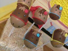 Horse cake pops at a Pony party #pony #cakepops