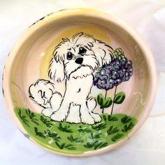 Maltese Personalized Pet Bowl